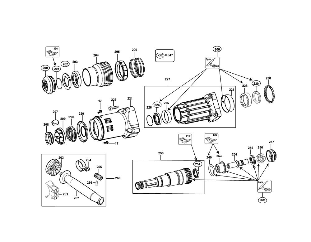 D25712K-AR-BlackandDecker-T1-PB-2Break Down