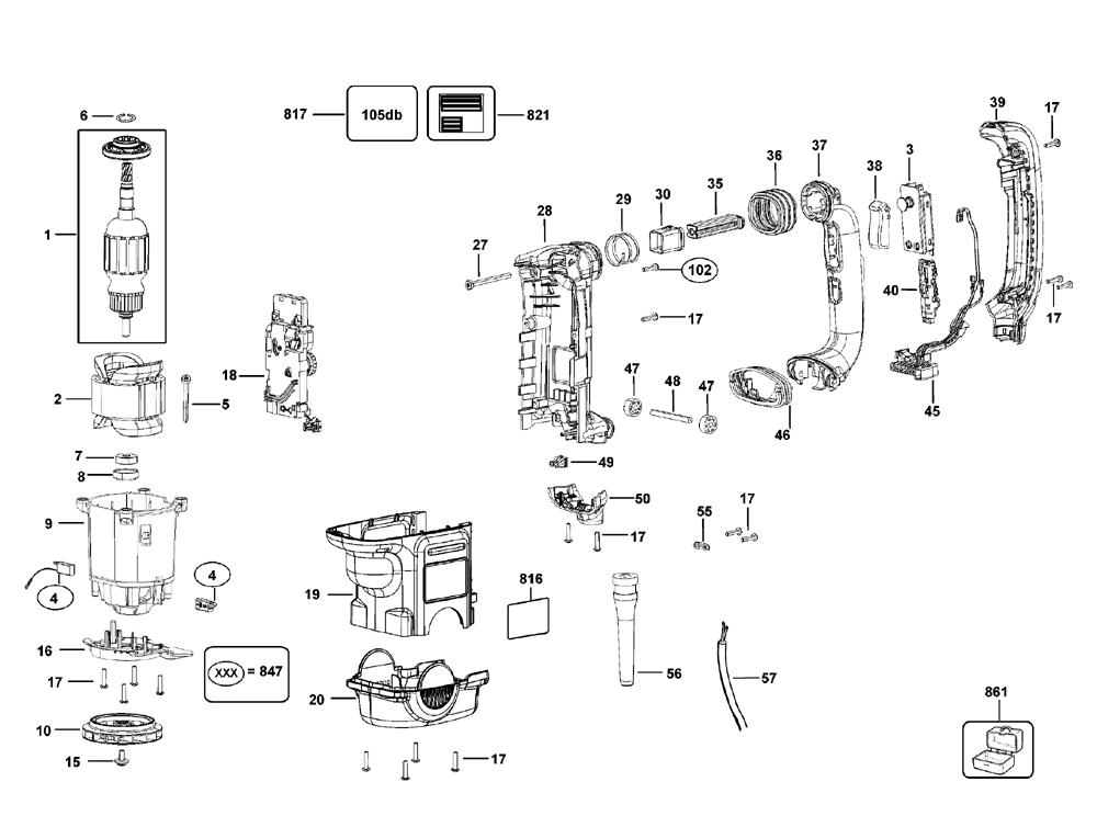 D25721K-T1-Dewalt-PB-1Break Down