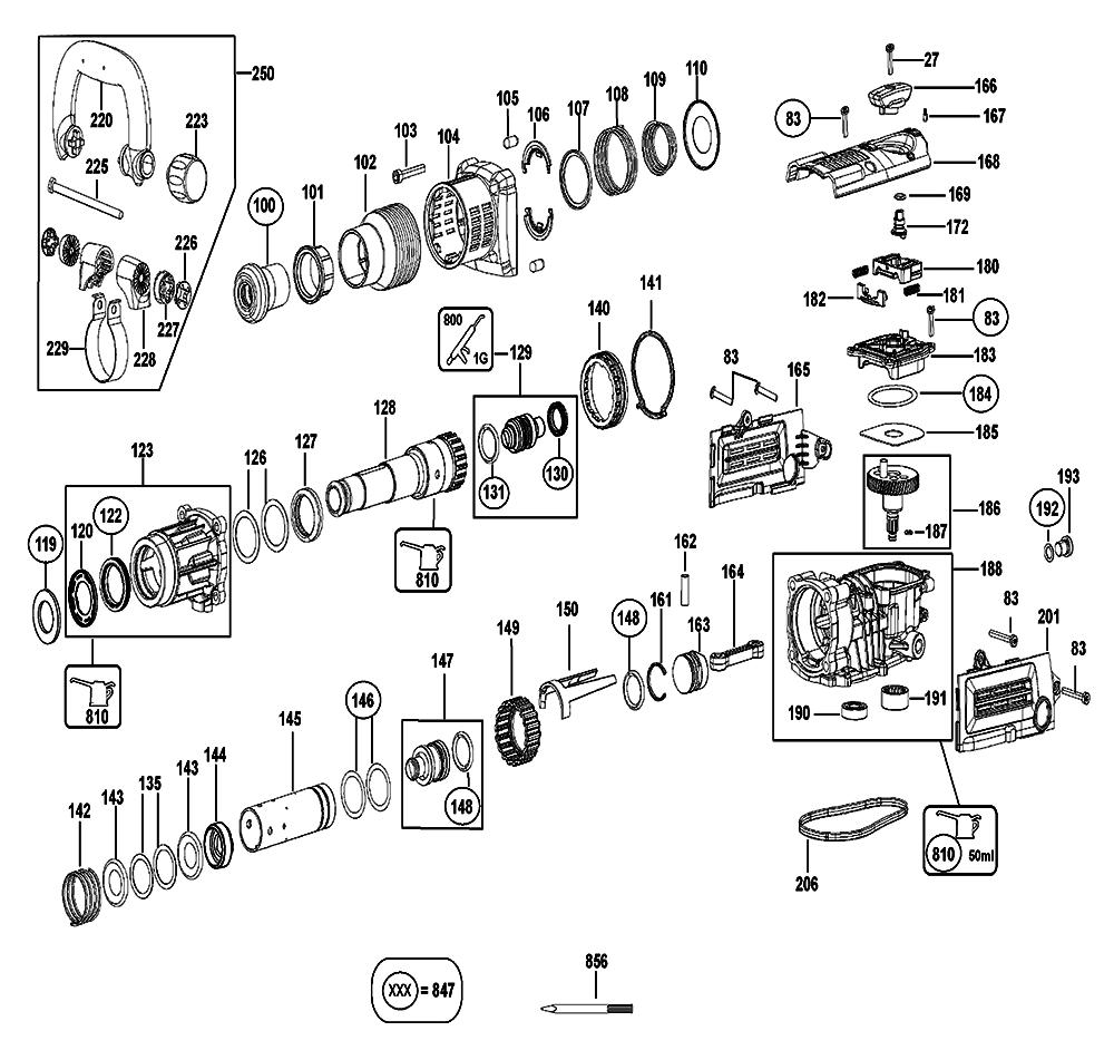 D25831K-AR-Dewalt-T1-PB-1Break Down