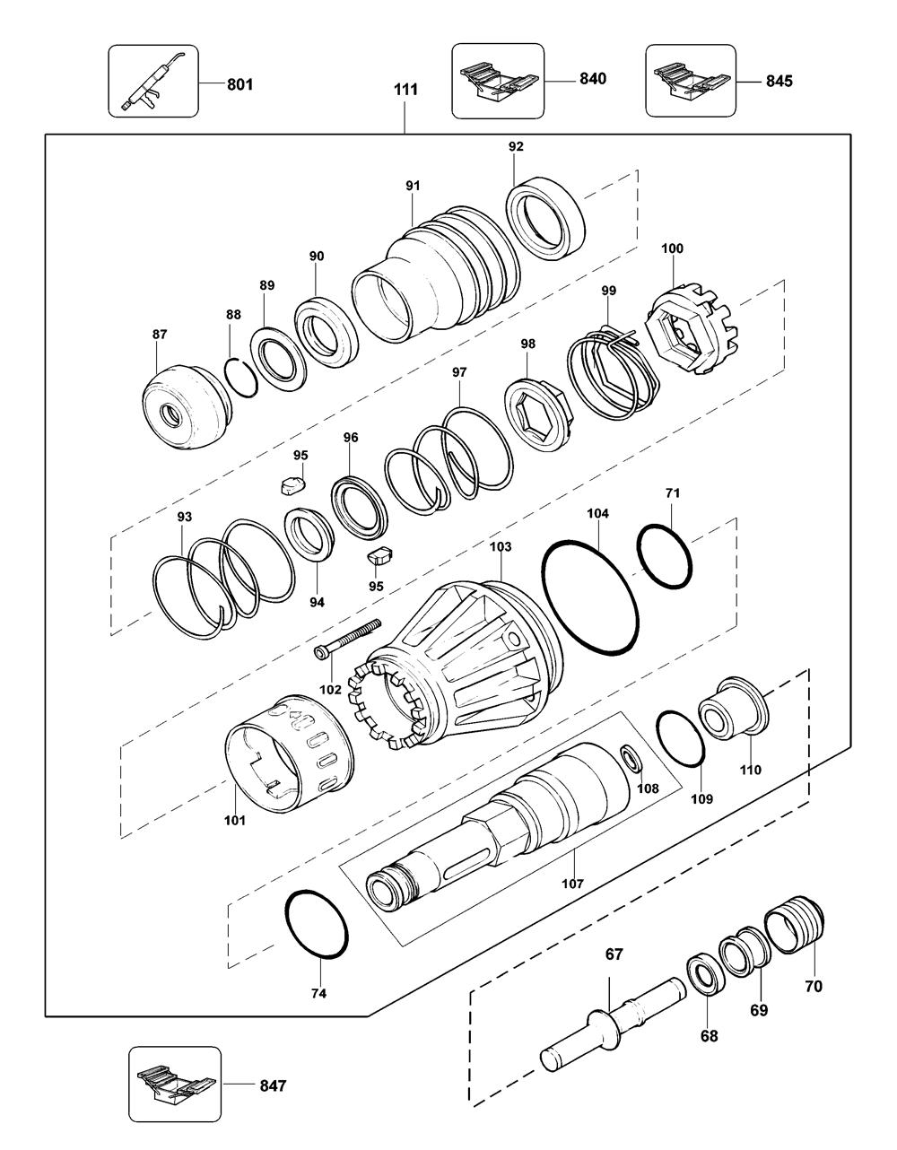 D25900KAR-Dewalt-T1-PB-1Break Down