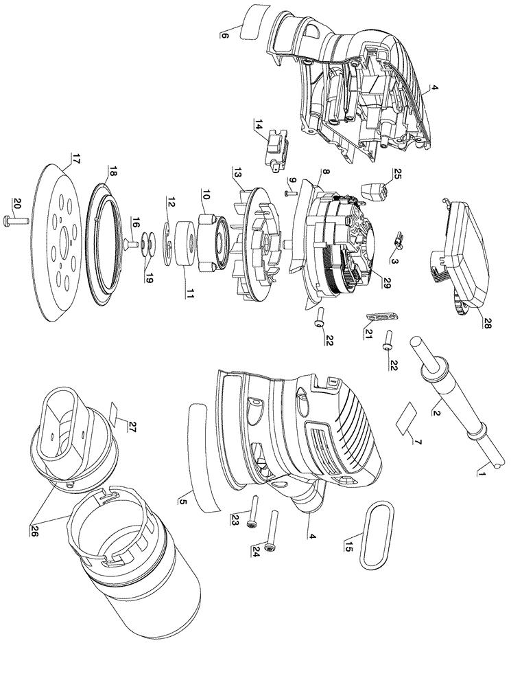 buy dewalt d26456 5 inch low profile palm grip random orbit replacement tool parts