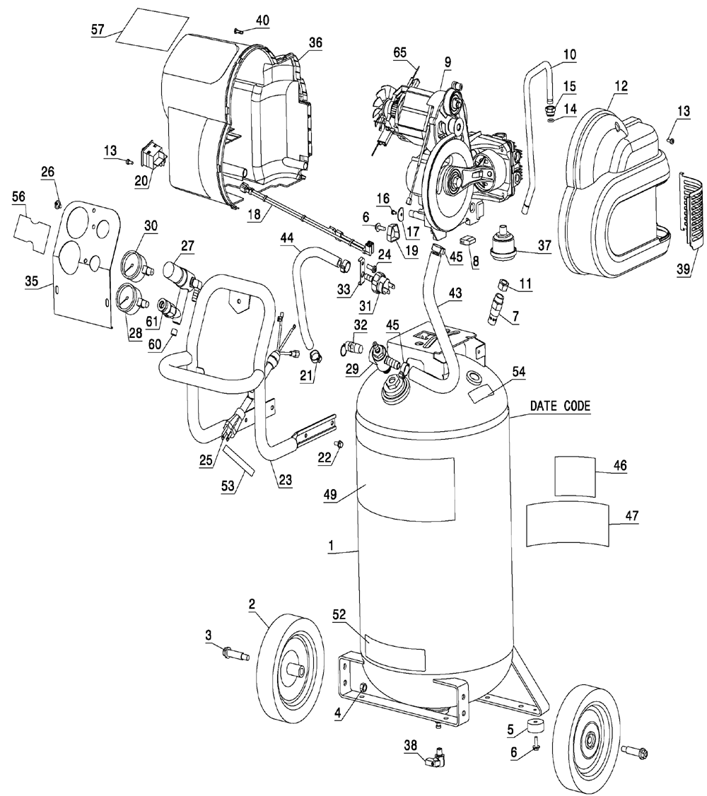 Wiring Diagram For Dewalt D55141 Trusted Diagrams Air Compressor De Walt Diy U2022 Router