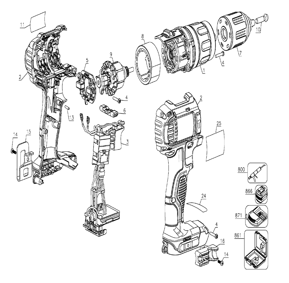Drill Diagram Parts List For Model 315269290 Craftsmanparts Drill