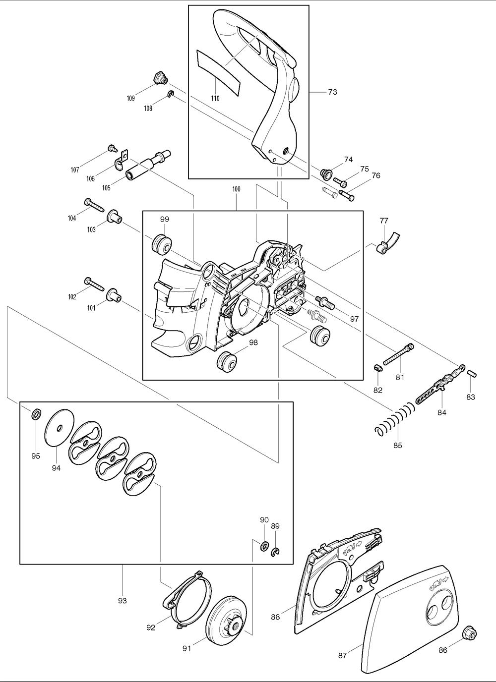Makita-DCS34-319-PBBreak Down