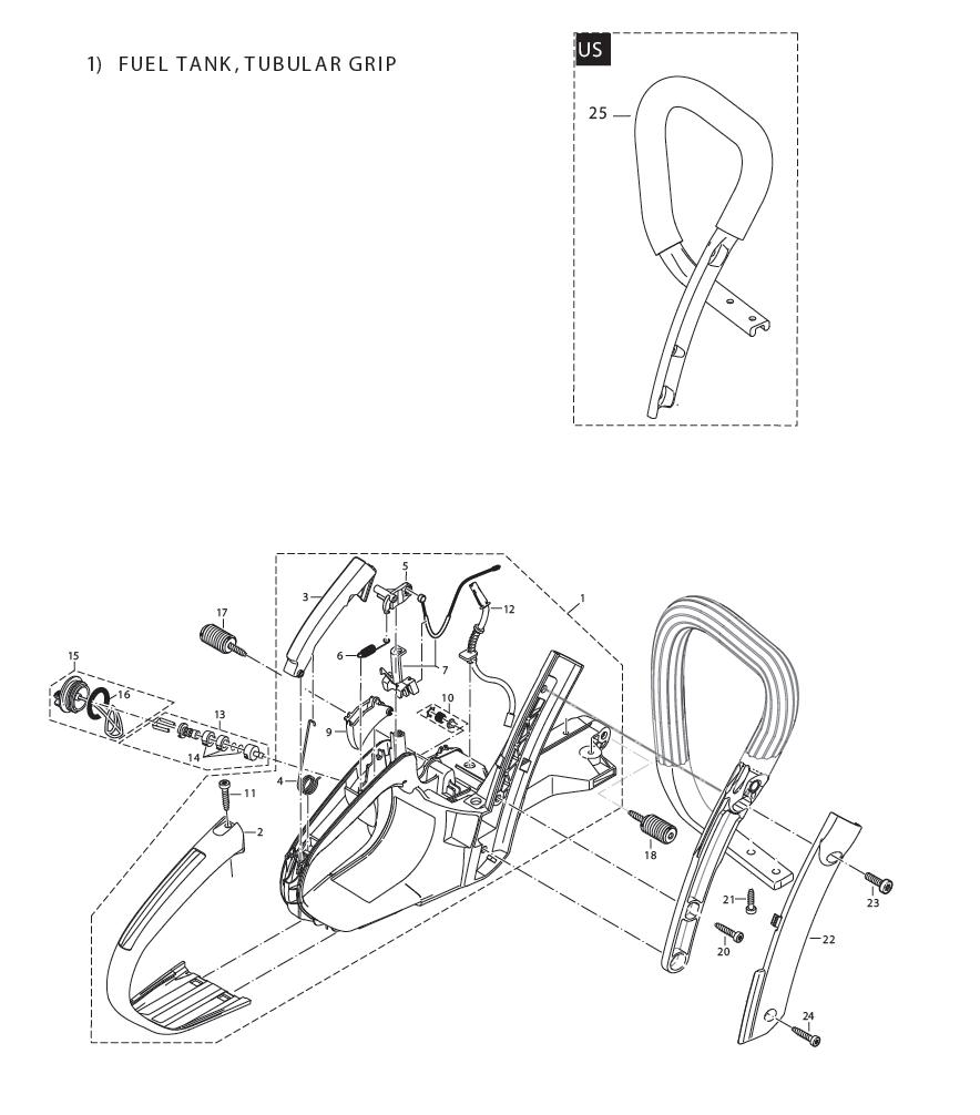 buy makita dcs51020 20 inch  51cc chain replacement tool