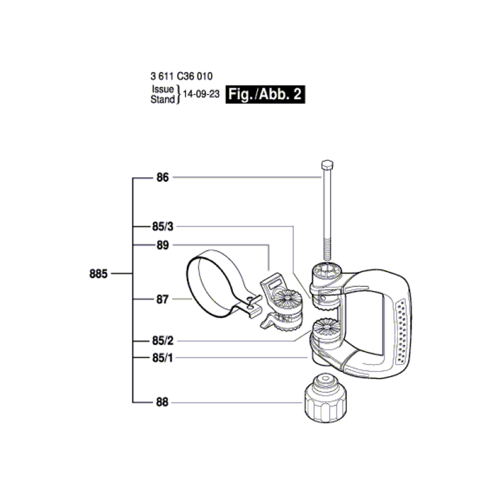 DH1020VC-(3611C36010)-Bosch-PB-1Break Down