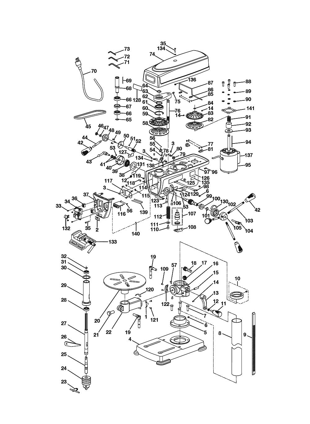 buy ryobi dp121l replacement tool parts