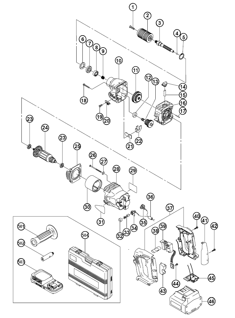 buy hitachi dv24dv replacement tool parts
