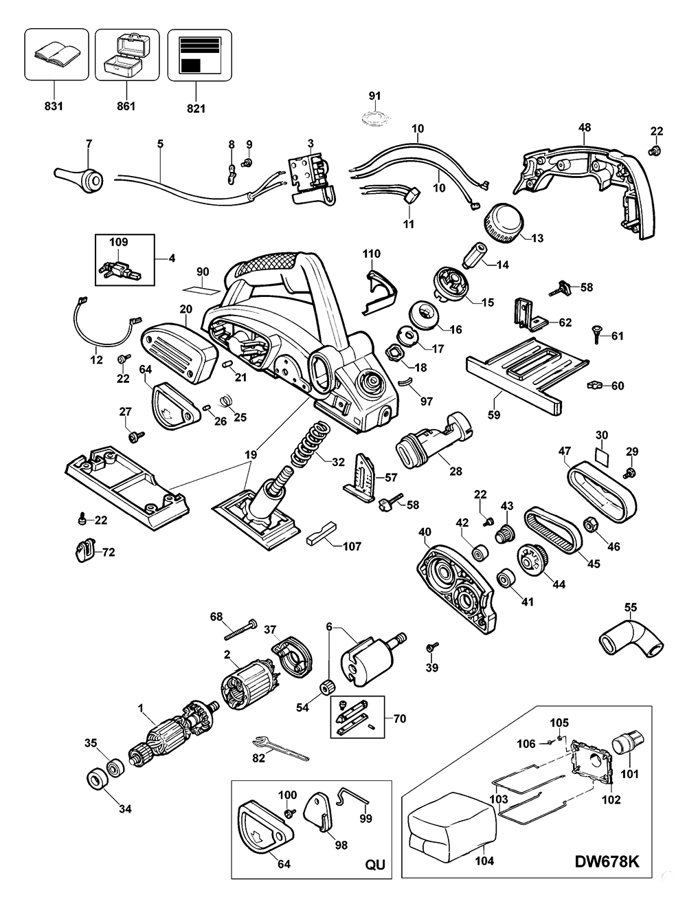 82 electric planer parts