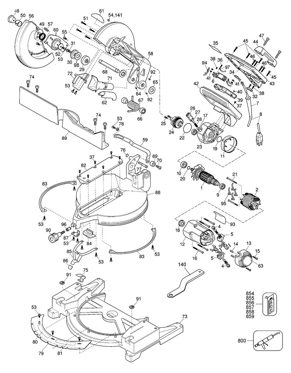 dewalt miter saw wiring diagram dw715 wiring diagram
