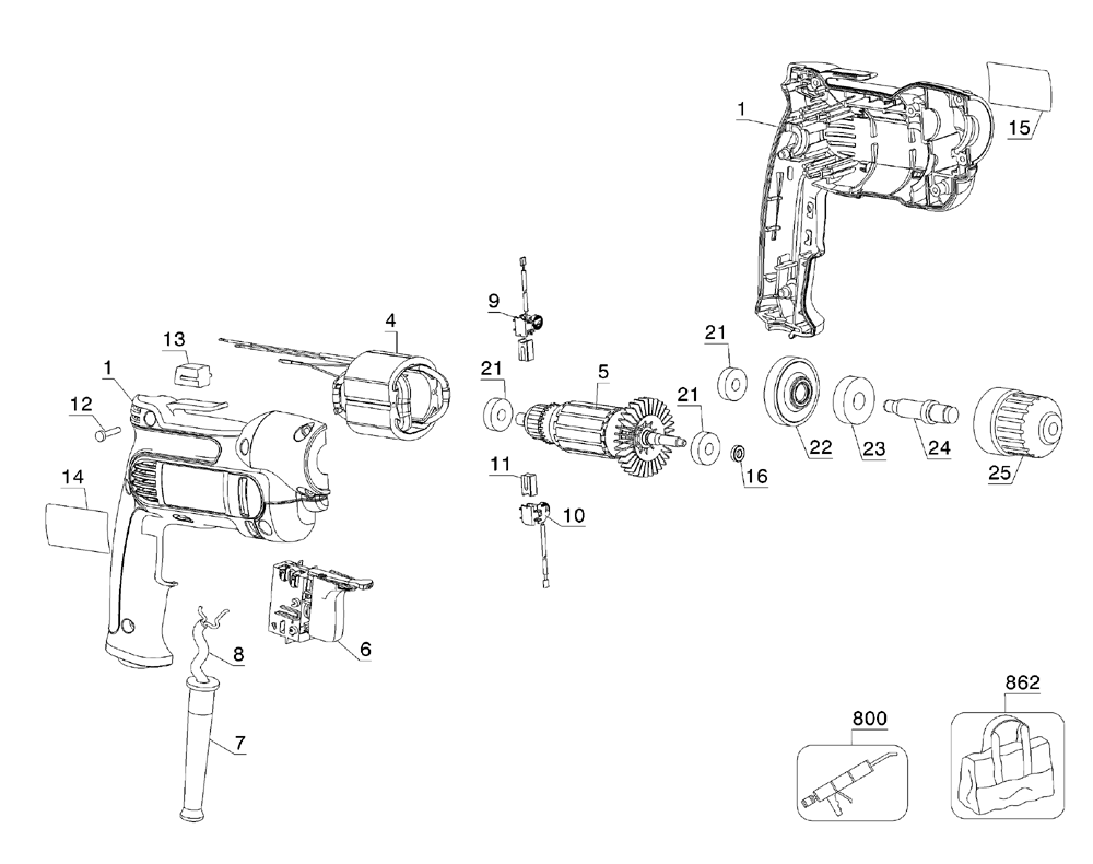 buy dewalt dwd110k type 8 inch 7 0 amp vsr pistol grip