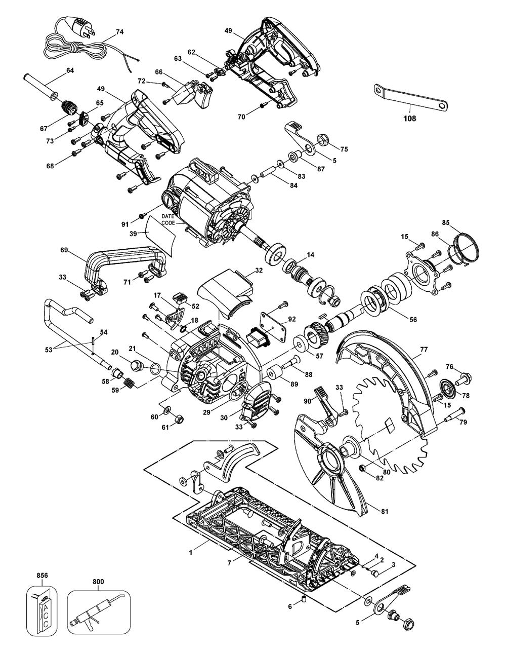 DWS535T-T3-Dewalt-PB-2Break Down