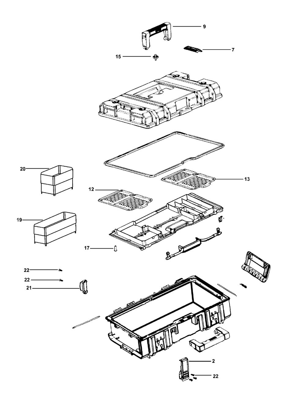 Case Drill Parts : Buy dewalt dwst type small case toughsystem
