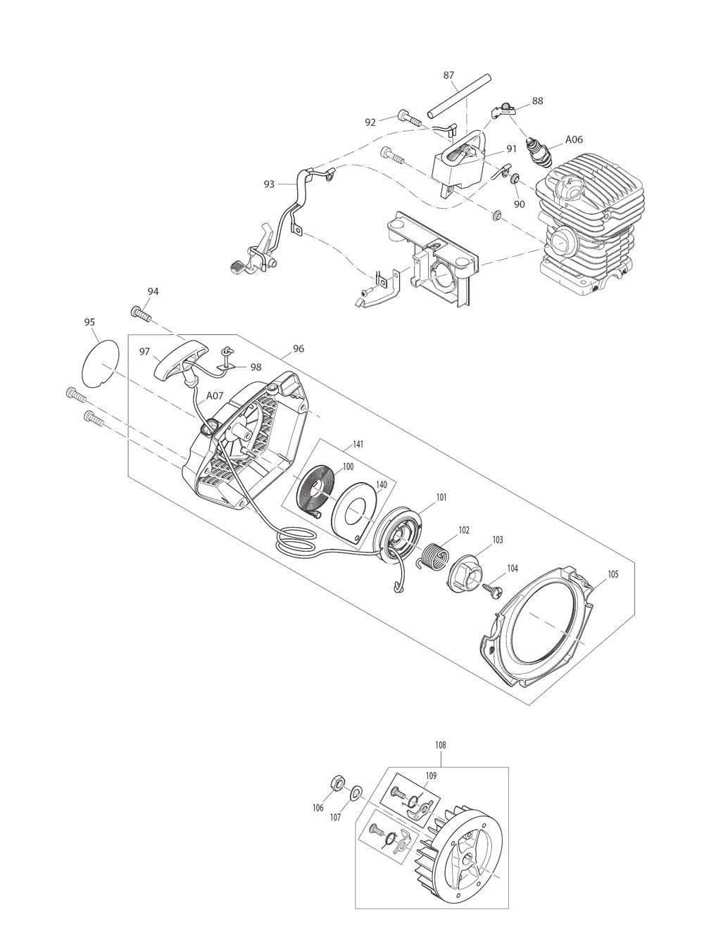 EA3201S40B-T3-Makita-PB-3Break Down