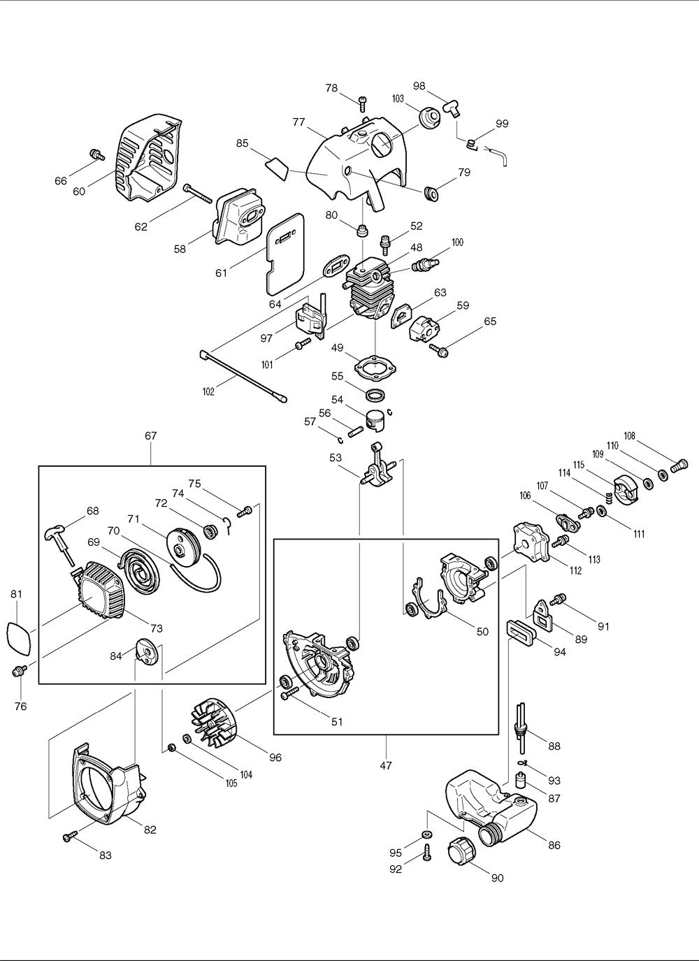 Makita-EH450-671-PBBreak Down