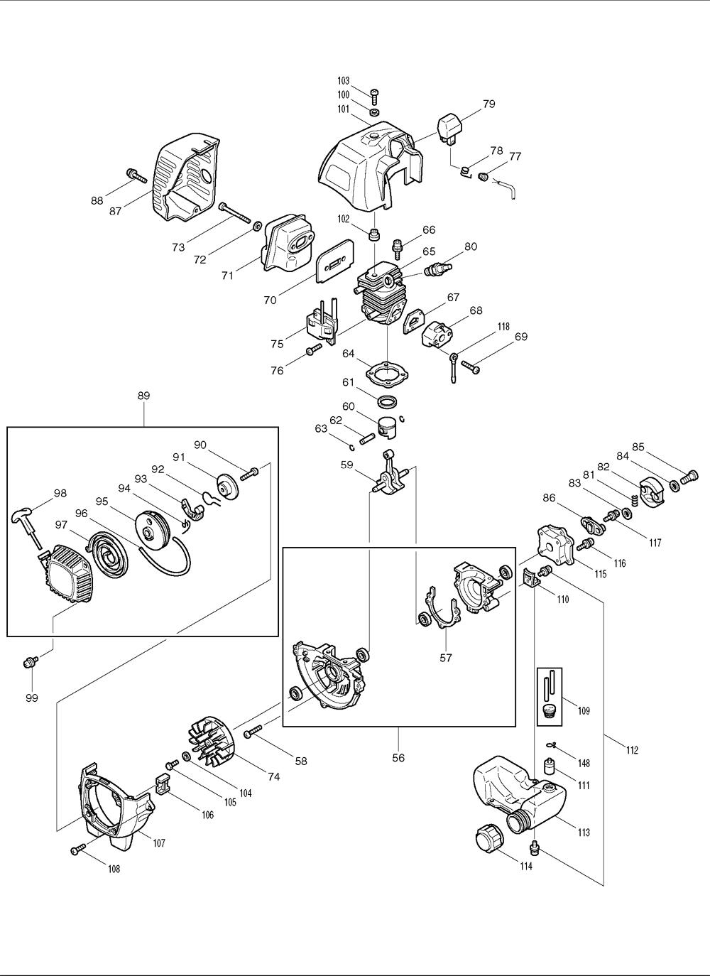 Makita-EH561-176-PBBreak Down