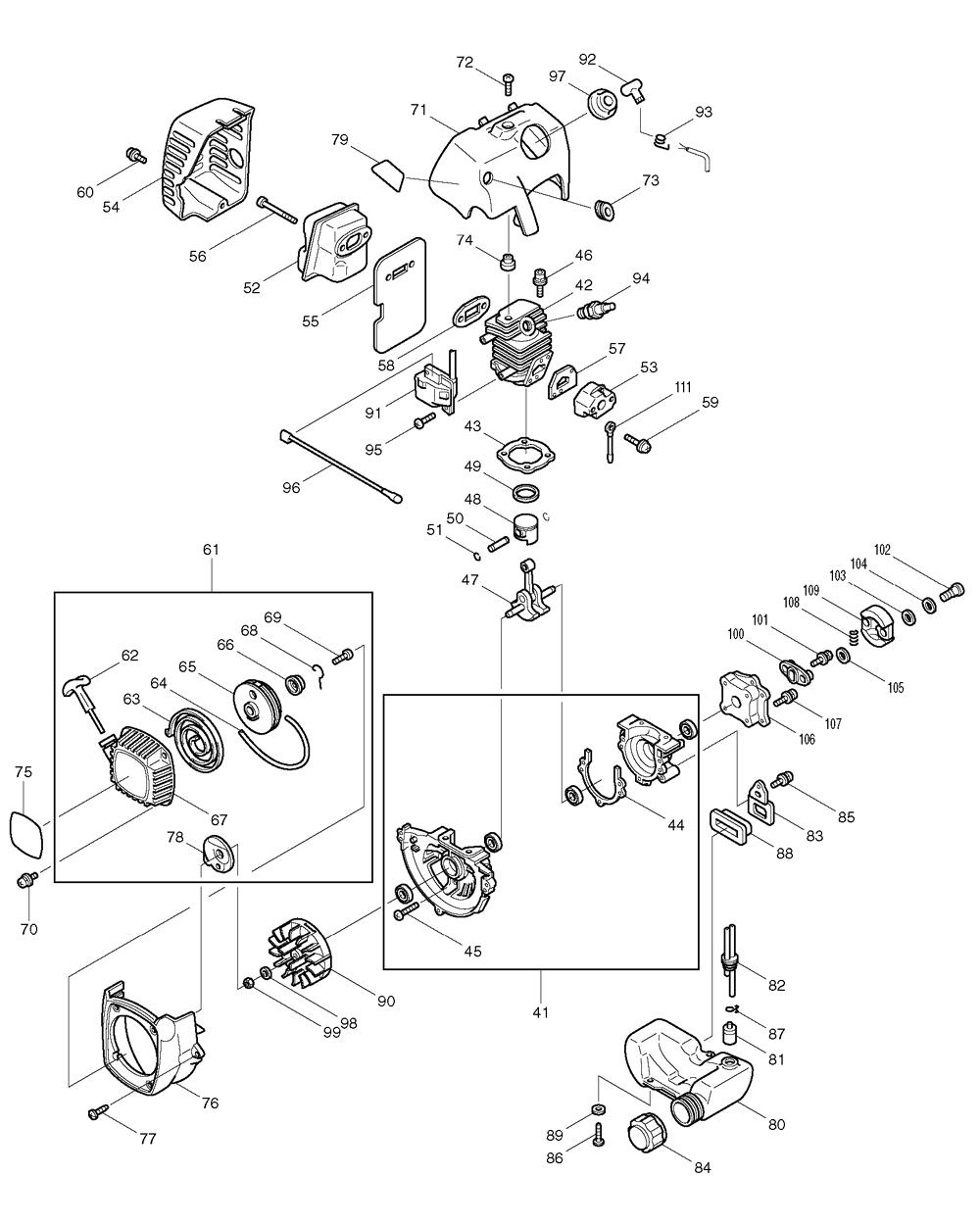 Makita-EH620-673-PBBreak Down