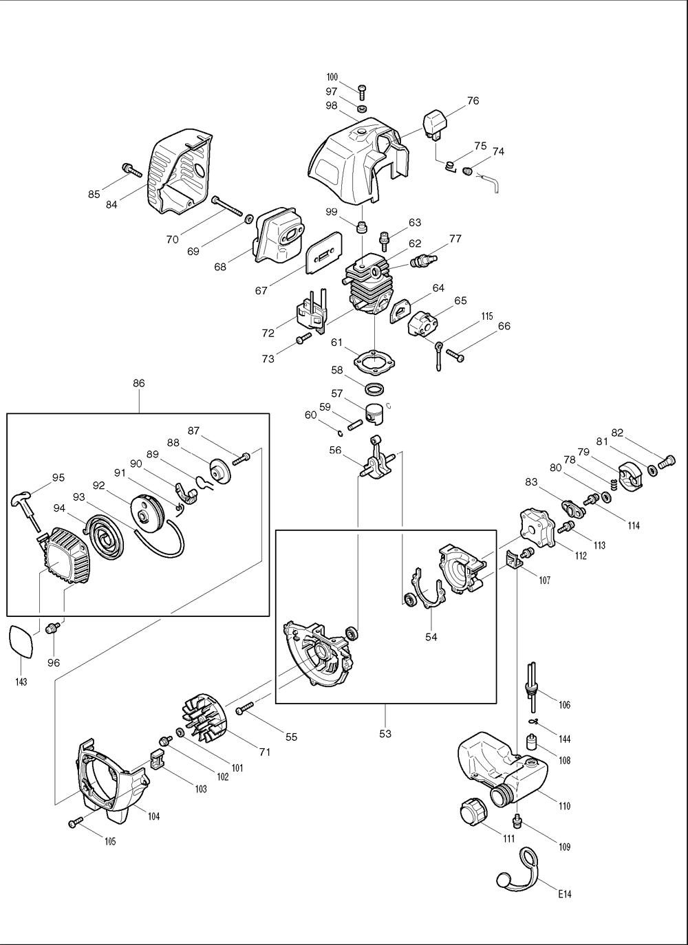 Makita-EH760-622-PBBreak Down