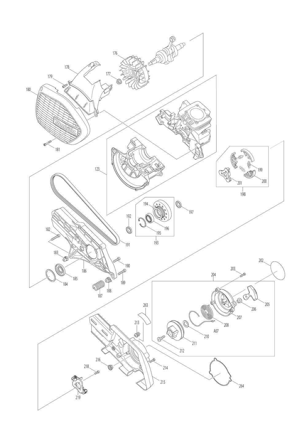 EK7651HD-T2-Makita-PB-3Break Down