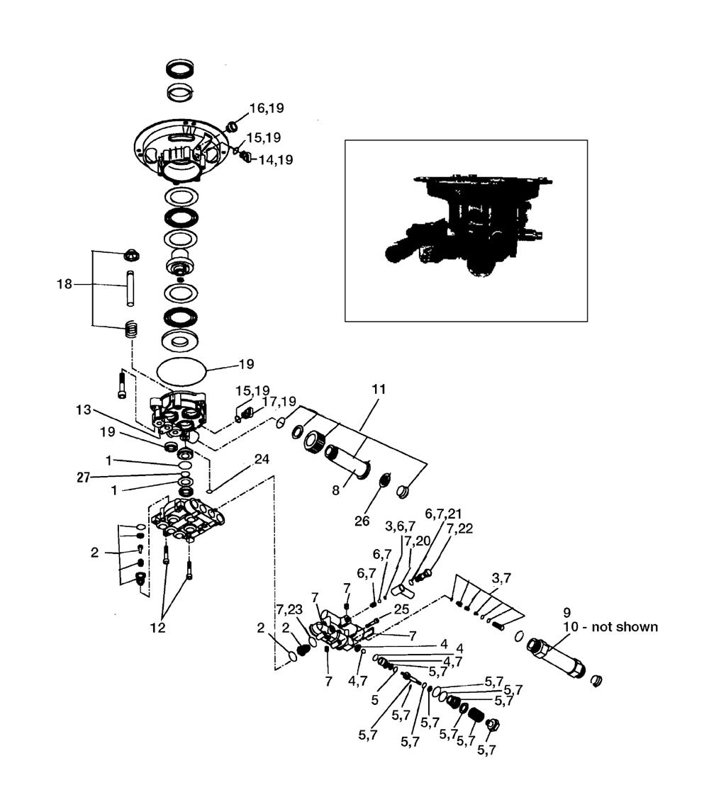 pressure washer unloader valve diagram