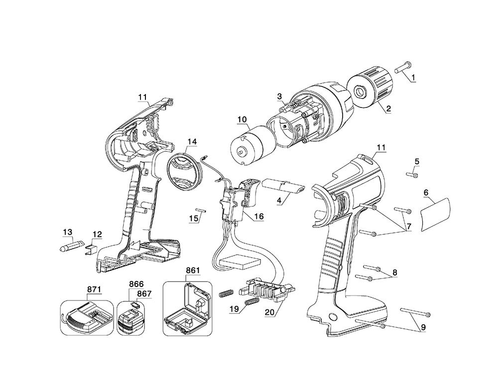 cordless drill schematics