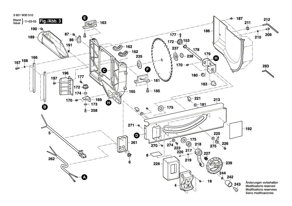 GTS1031-bosch-PB-2Break Down
