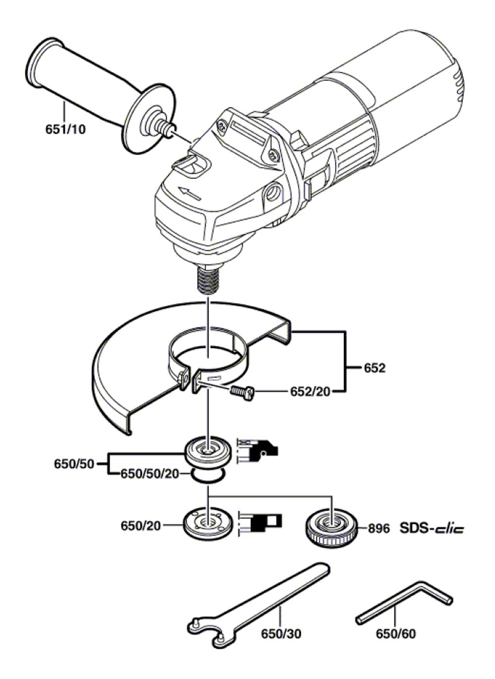 GWS9-125CE-(0601344739)-Bosch-PB-1Break Down