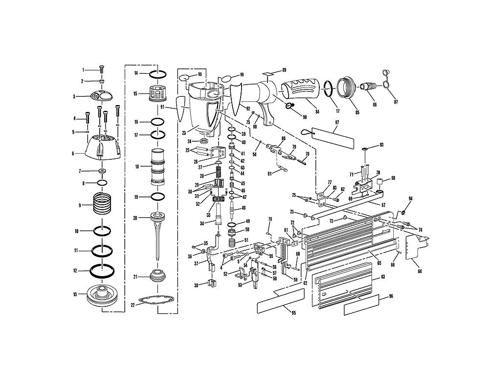Electric Stapler Assembly Diagram