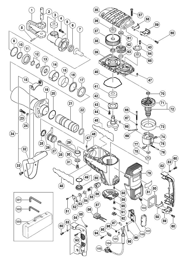 hitachi h65. hitachi h65sd2 parts schematic h65