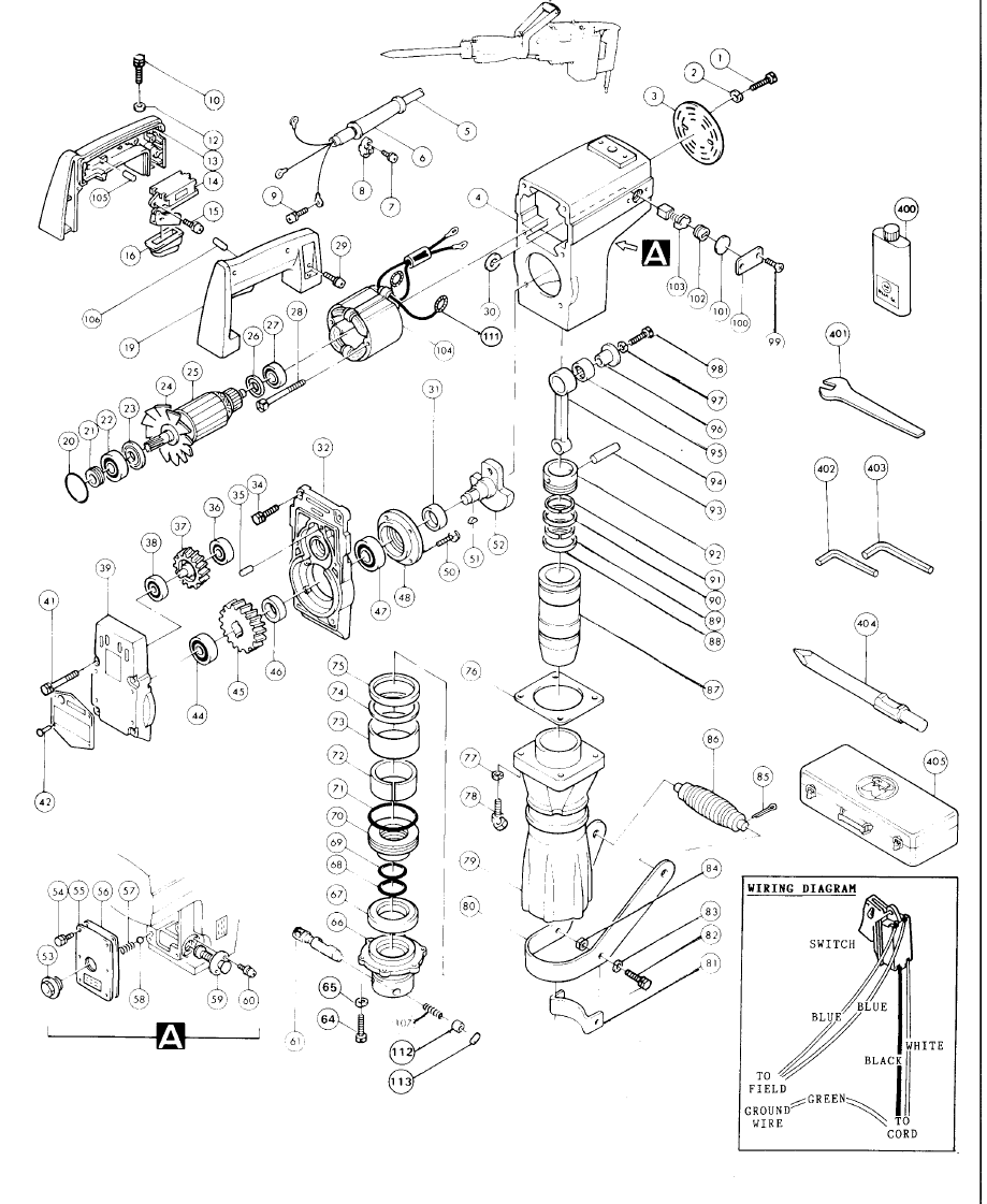 buy makita hm1301 replacement tool parts makita hm1301 demolition hammer parts diagram