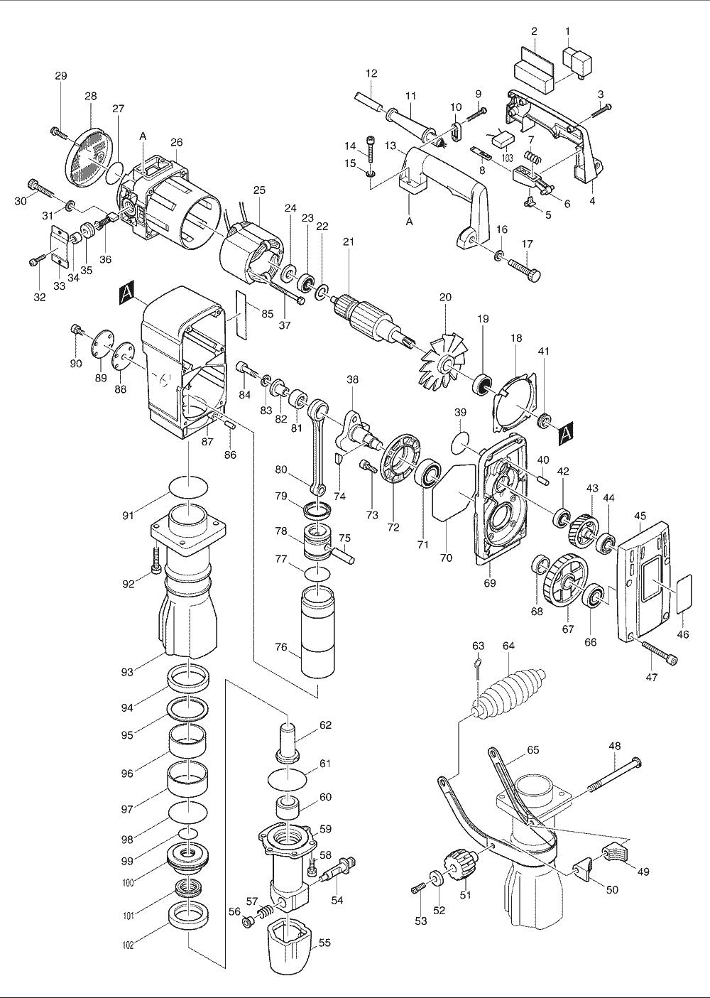 buy makita hm1303 replacement tool parts