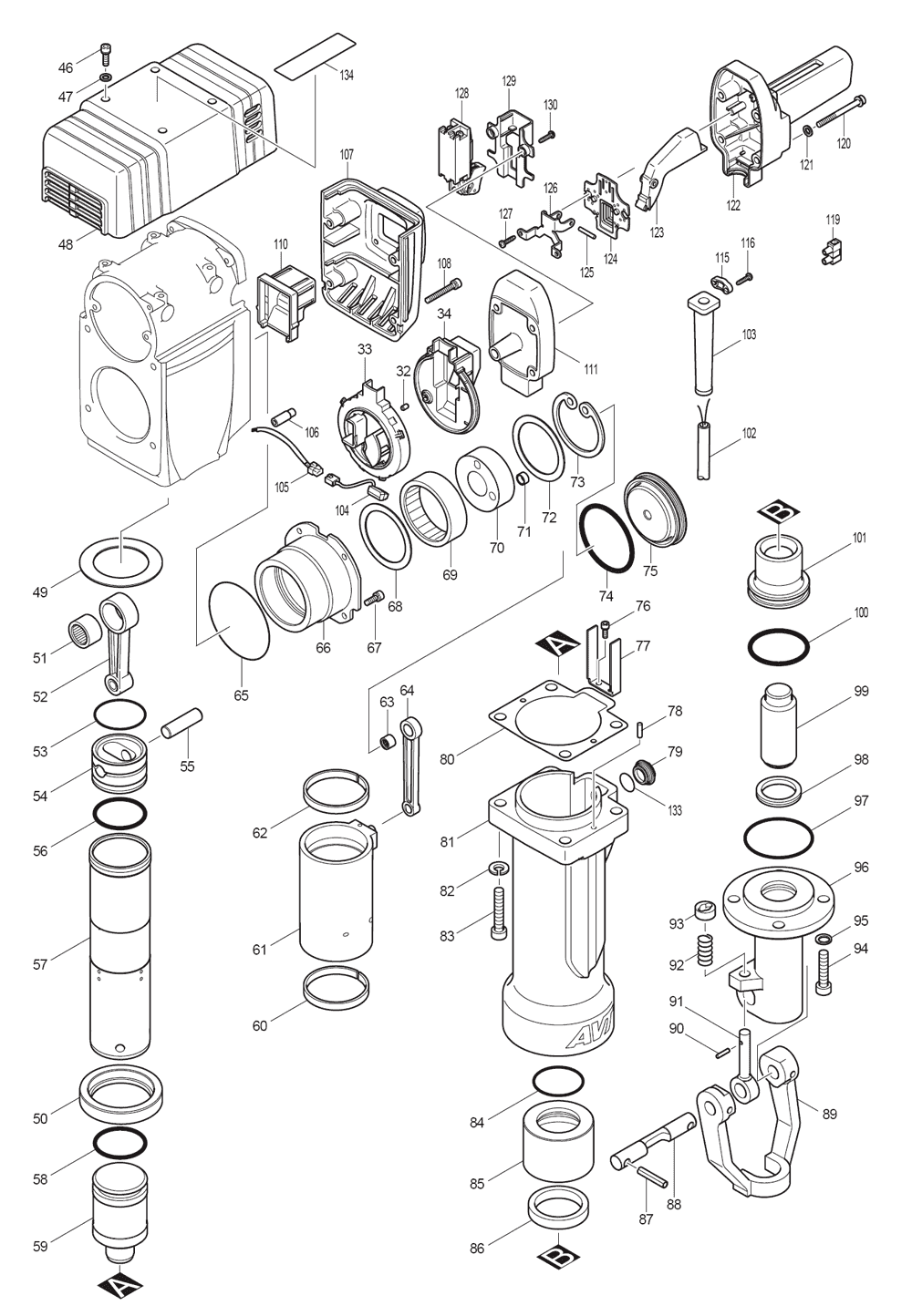 HM1810-T2-Makita-PB-1Break Down
