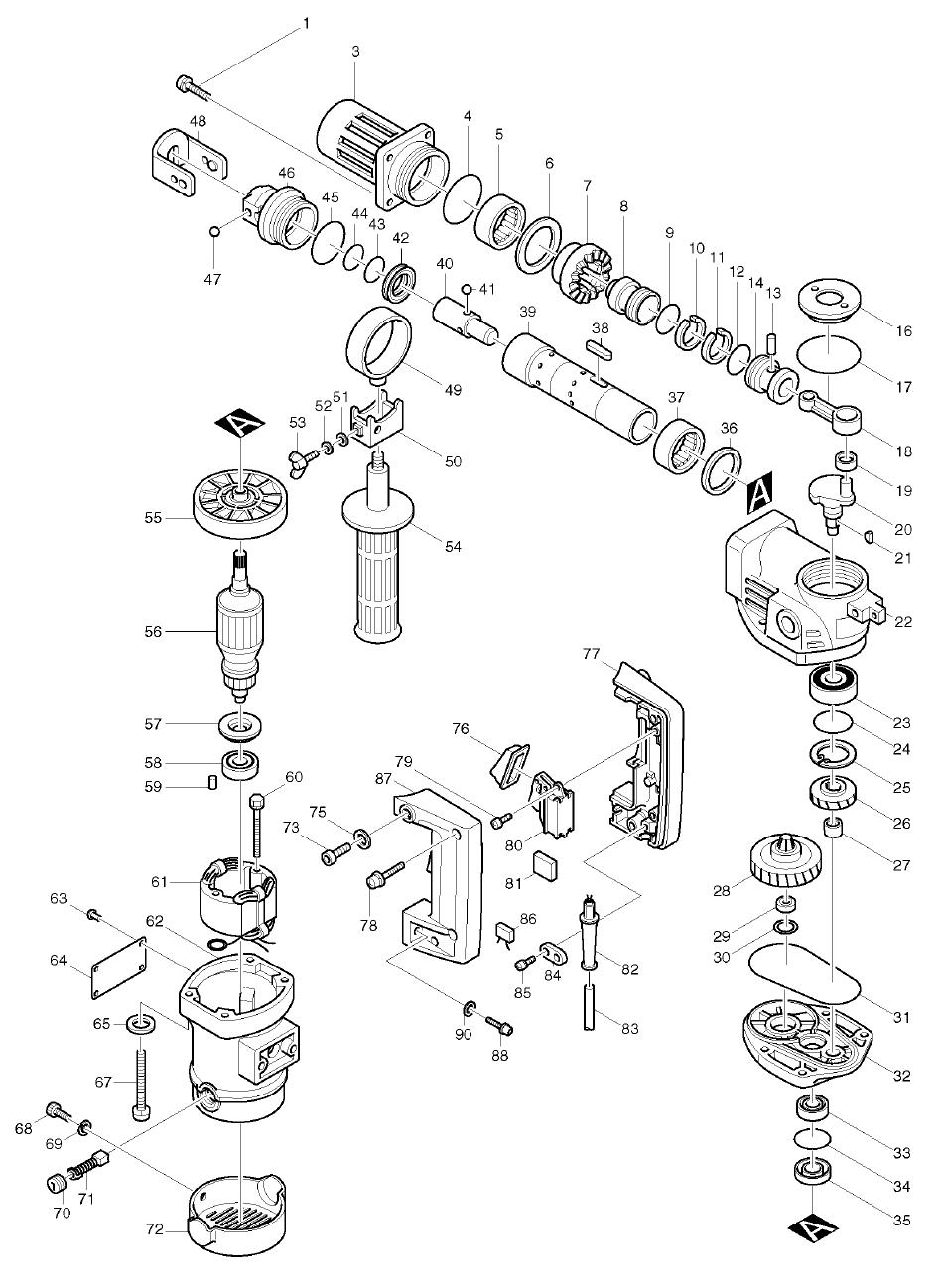 buy makita hr3520 replacement tool parts