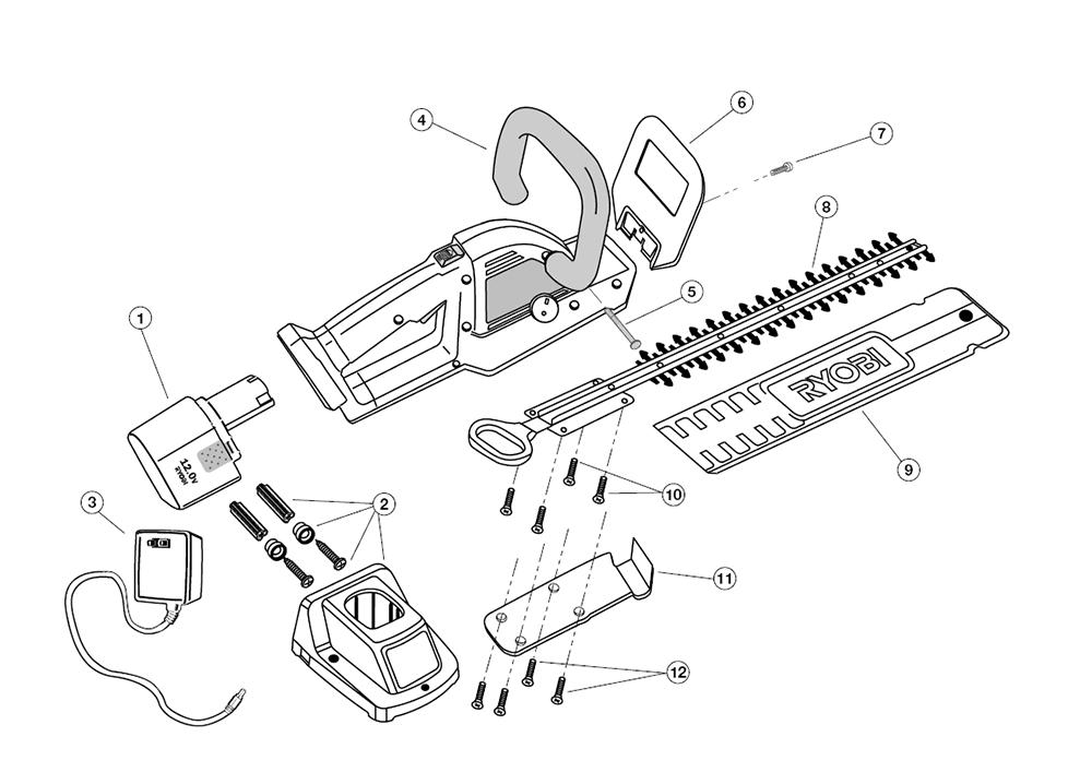 Buy Ryobi Ht12v 803000001 Replacement Tool Parts Ryobi