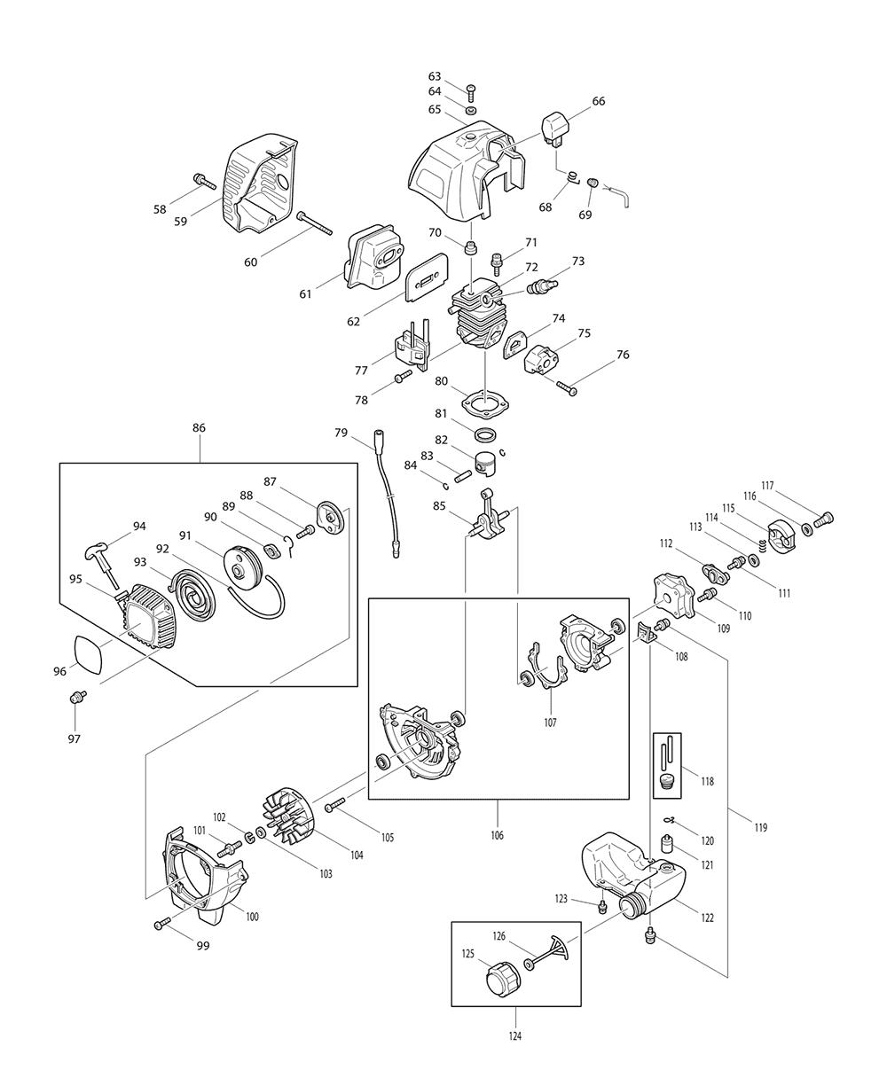 HTR5600-T2-Makita-PB-1Break Down