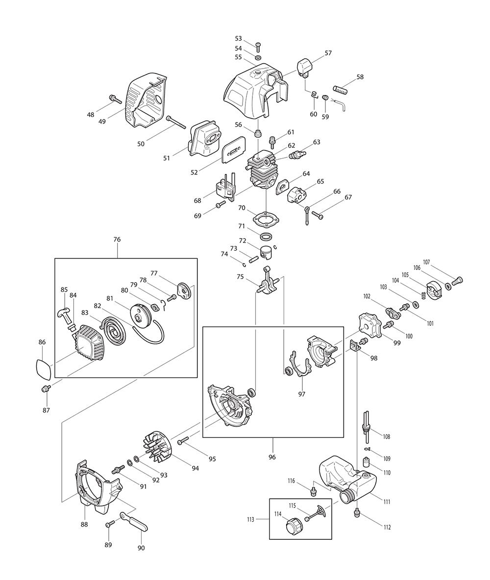 HTR7610-T2-Makita-PB-1Break Down