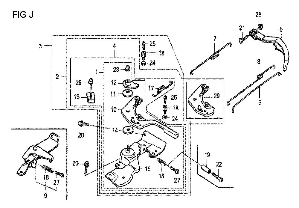 GX160U1-TQXWE-Honda-PB-10Break Down