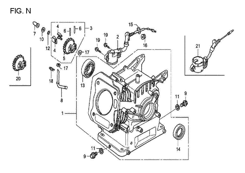 GX160U1-TQXWE-Honda-PB-14Break Down