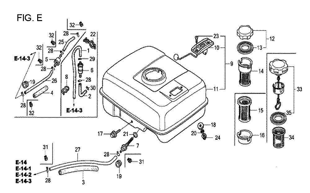 GX160U1-TQXWE-Honda-PB-5Break Down