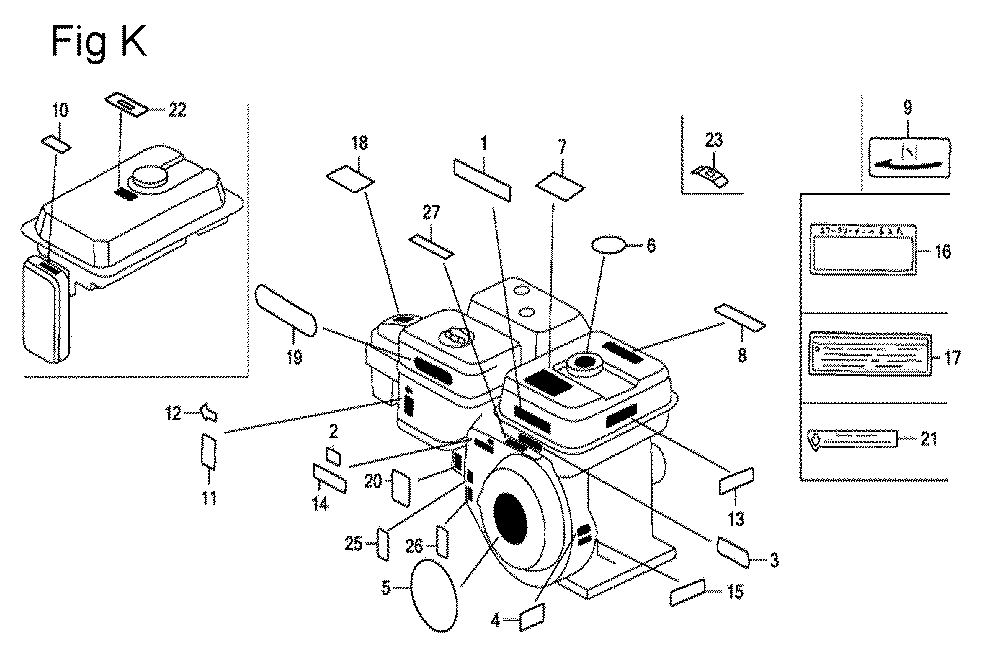 GX200-(QXC9-Seri-19-8999999)-Honda-PB-11Break Down