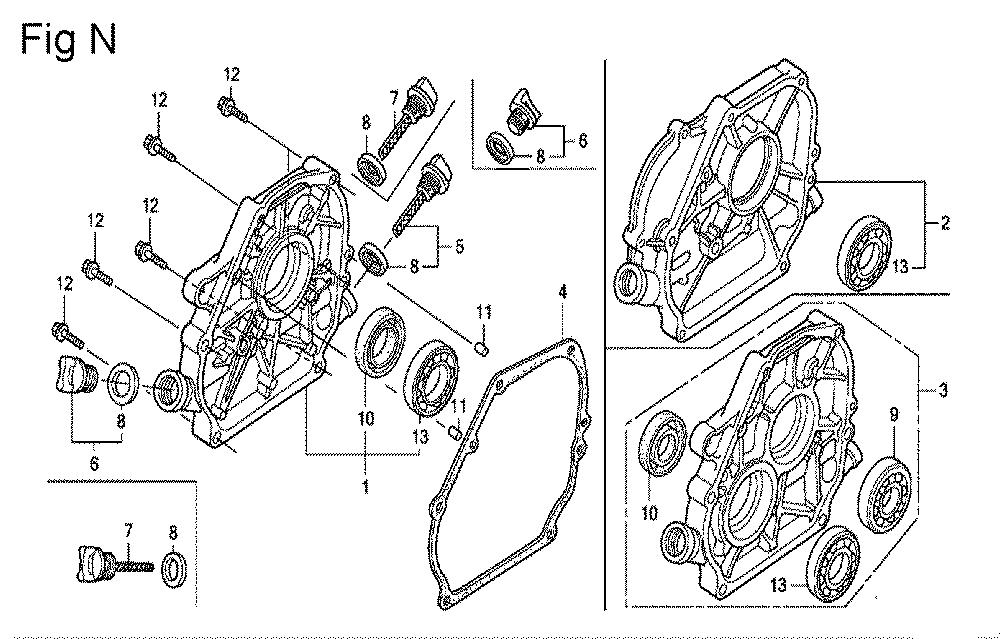 GX200-(QXC9-Seri-19-8999999)-Honda-PB-14Break Down