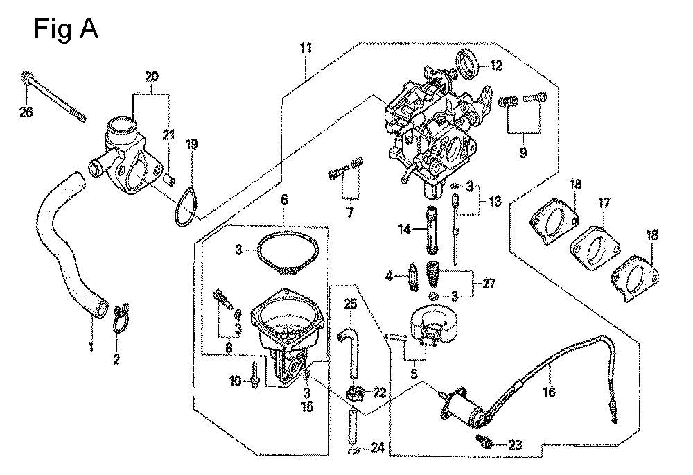 honda gx390 schematic