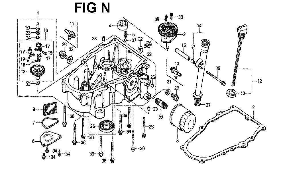 GXV620U1-TQAF-Honda-PB-14Break Down