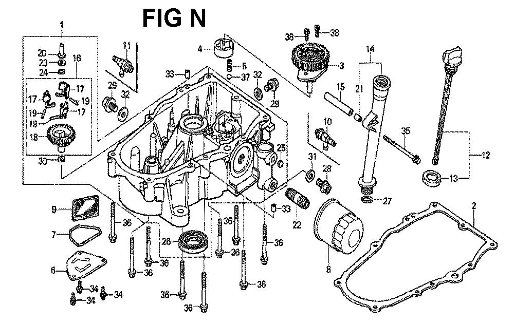 GXV620U1-TQYF4-Honda-PB-14Break Down