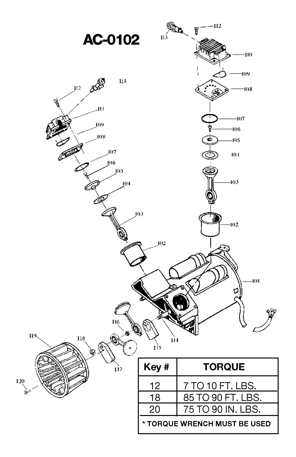 IR500TVE60V-Devilbiss-T3-PB-1Break Down