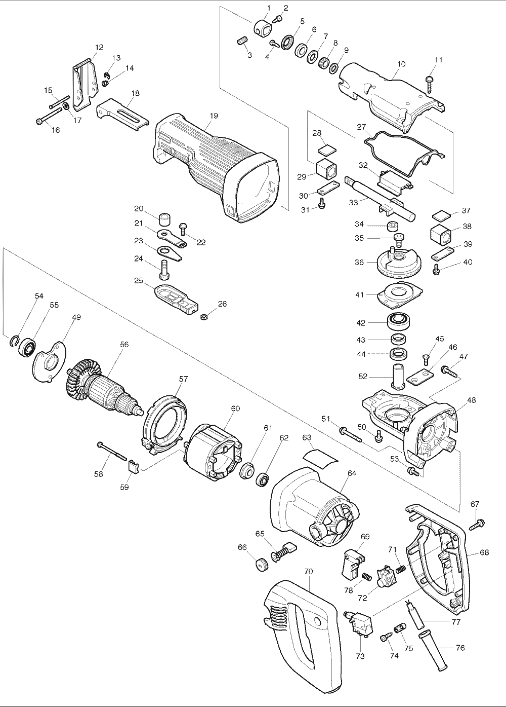 Buy Makita Jr3030 Reciprocating Replacement Tool Parts