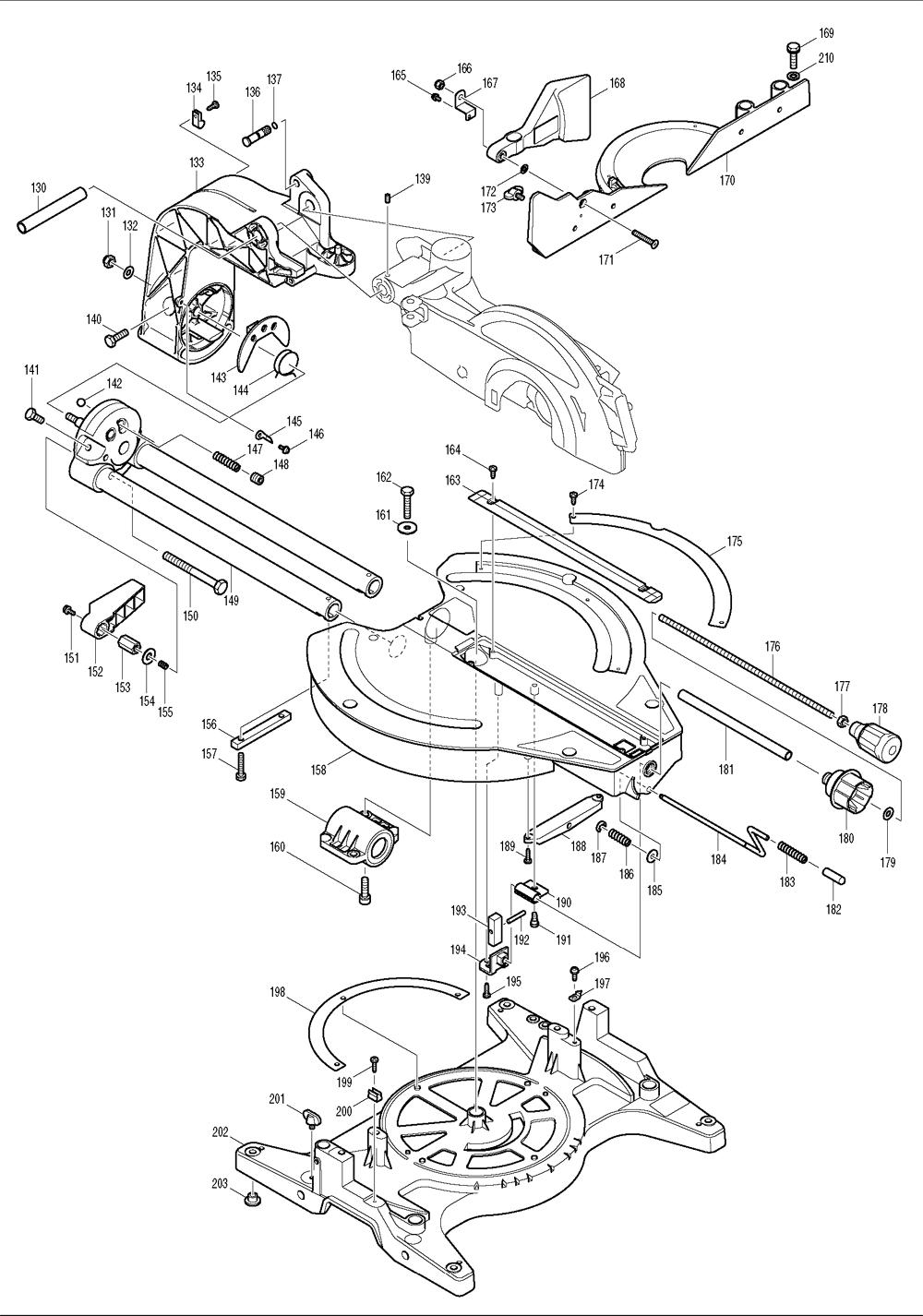 Makita-LS1214FL-204-PBBreak Down
