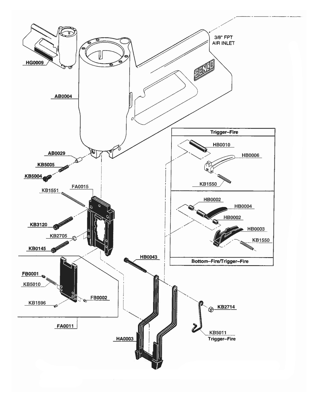 senco sks parts diagram   23 wiring diagram images