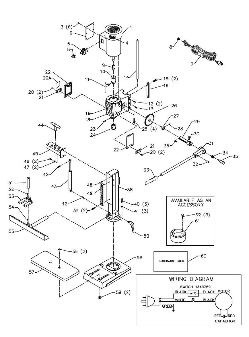 delta motor wiring diagram delta tools wiring diagram buy delta mm300 replacement tool parts | delta mm300 ...