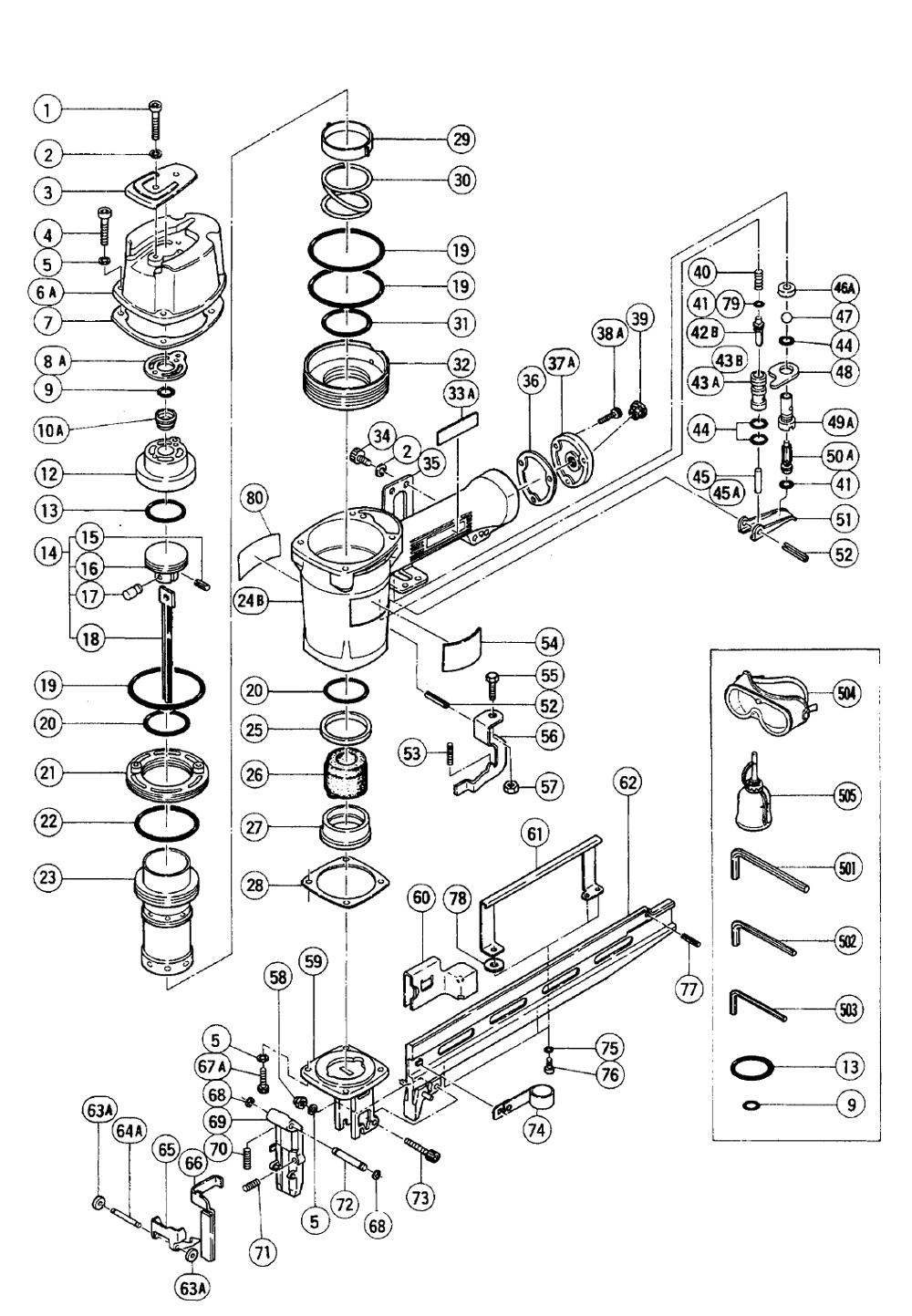 Buy Hitachi N5008aa Replacement Tool Parts Hitachi